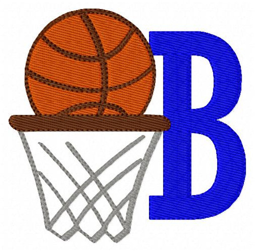 Basketball Machine Embroidery Monogram Designs Font set