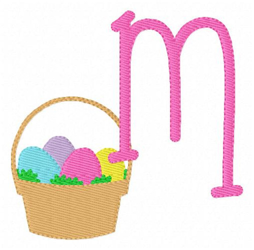 Easter Basket Spring Machine Embroidery Font Monogram Design Set