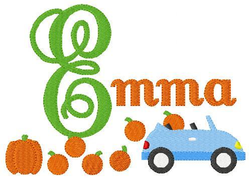 Off to the Pumpkin Patch 5x7 Mongram Set