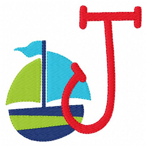 Sail the Ocean Monogram Embroidery Design Set