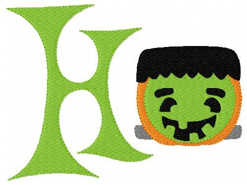 Pumpkin Frankie Fall 5x7 Monogram Set