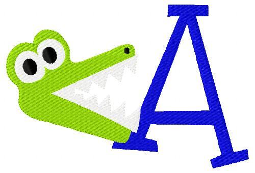 Gator Chomper 5x7 Monogram Set