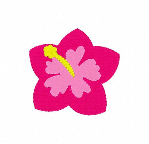 Hibiscus Tropical Flower Machine Embroidery Design