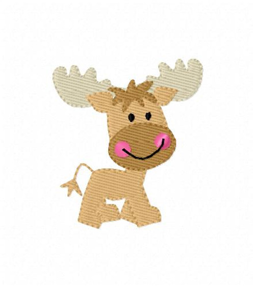 Moose Deer Small Machine Embroidery Design