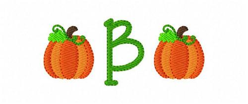 Pumpkin Mini Monogram Machine Embroidery Design Font Set