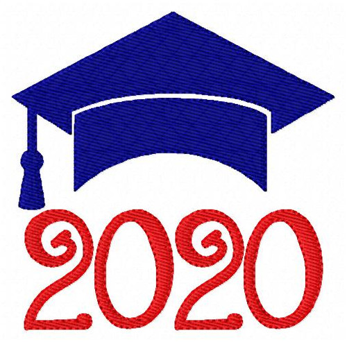 2020 Graduation Cap Embroidery Design