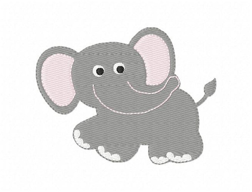 Elephant, Animal, Zoo, Safari Machine Embroidery Design