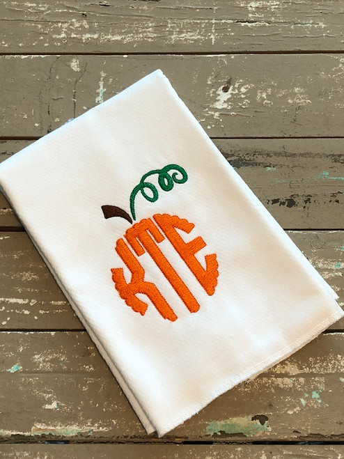 Pumpkin Scallop Circle Monogram Complete Embroidery Font Set