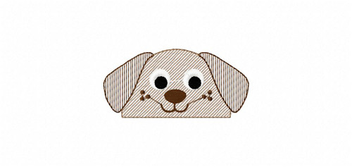 Puppy Sketch Embroidery Design
