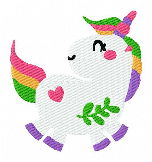 Fluffy Unicorn Machine Embroidery Design