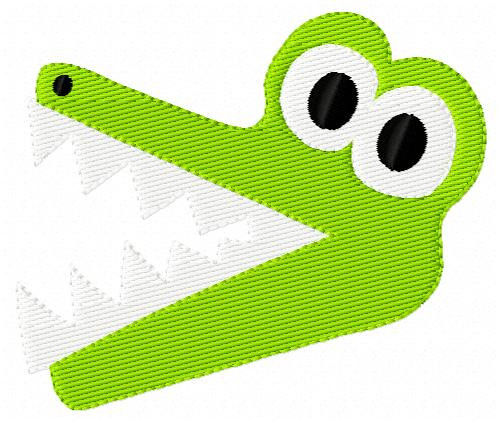 Gator Chomper Single Embroidery Design