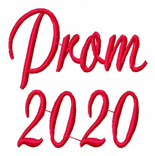 Prom 2020 Machine Embroidery Design in 2 sizes