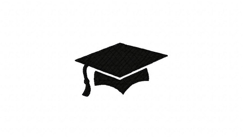 Graduation Cap Machine Embroidery Design