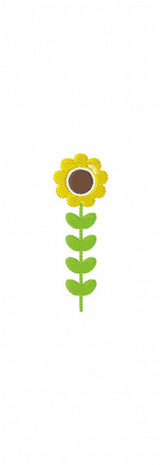 Sunflower Tall Machine Embroidery Design