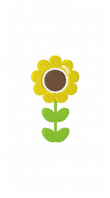 Sunflower Short Machine Embroidery Design