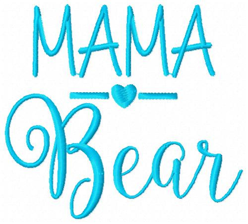 Mama Bear Machine Embroidery Design