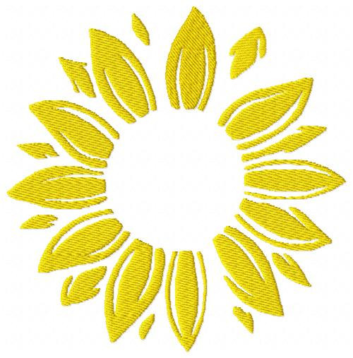 Sunflower Monogram Embroidery Frame Topper Only Design (No Letters Included)