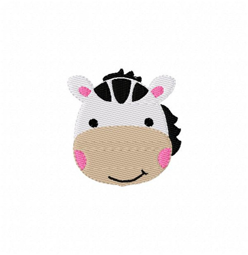 Zebra Baby Cutie Small Embroidery Design