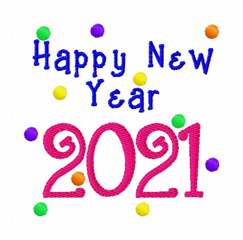 Happy New Year Machine Embroidery Design