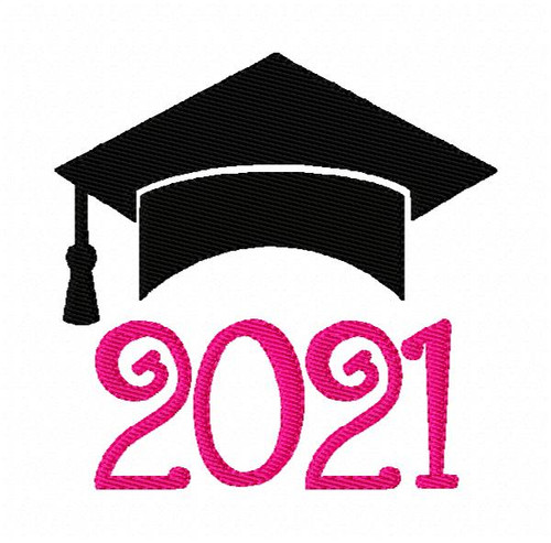 2021 Graduation Hat Machine Embroidery Design