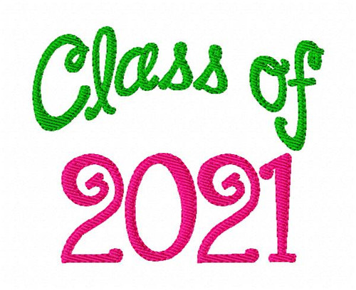 Class of 2021 Machine Embroidery Design