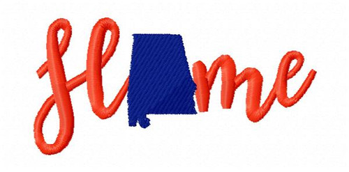 Home Alabama Machine Embroidery Design - 4 Sizes Included