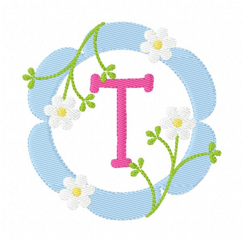 Daisy Spring Monogram Embroidery Design Set