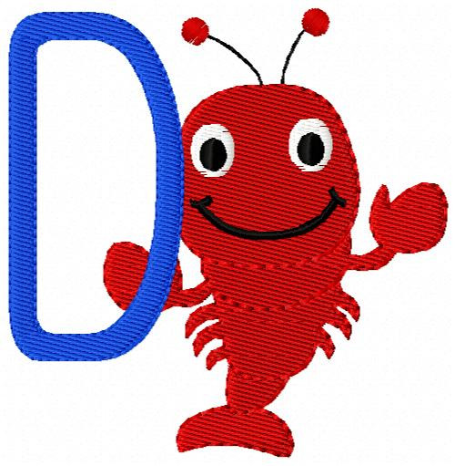 Lobster Summer Monogram Set