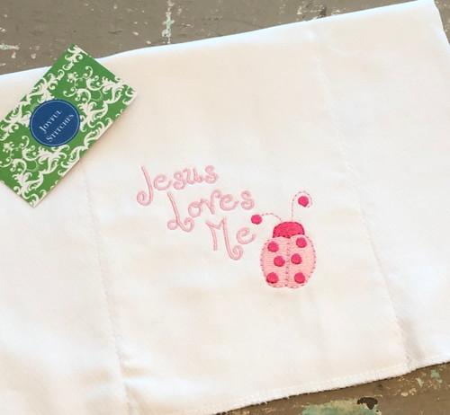 Jesus Loves Me Baby Burp Cloth