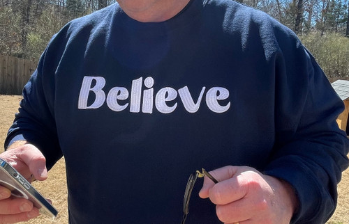 Believe Navy Sweatshirt