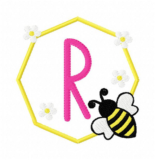 Honeycomb Bee Monogram Set