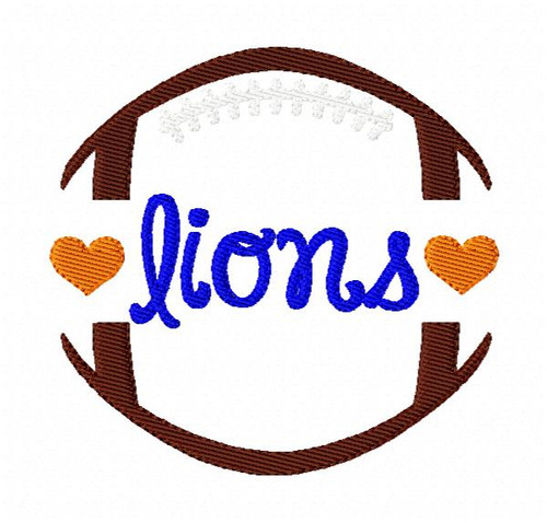 Lions Football Sports Machine Embroidery Design