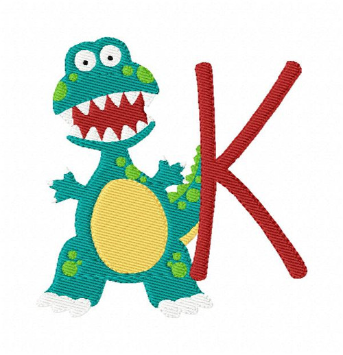 Dinosaur Cutie Monogram Embroidery Design Set