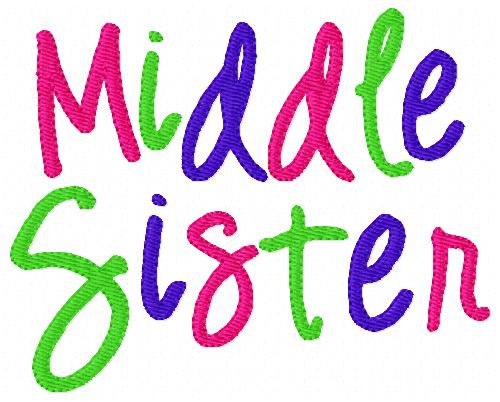 Middle Sister Rainbow 5x7