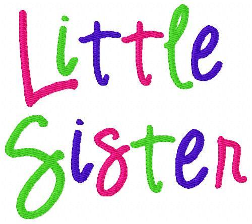 Little Sister Rainbow 5x7