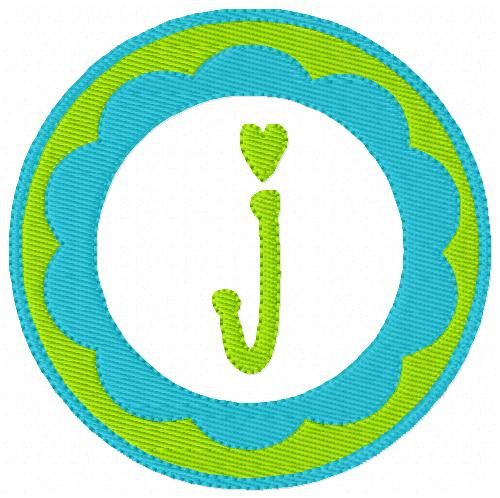 Scallop Cutie Circle Monogram Set
