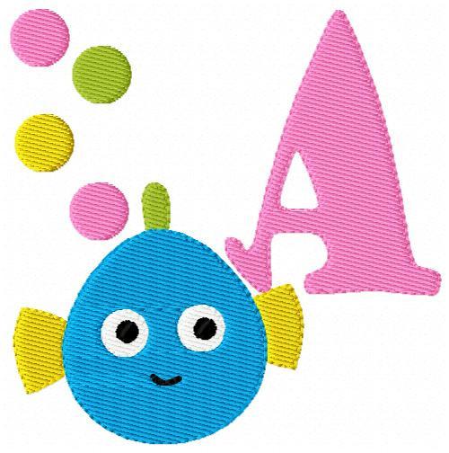 Joyful Fish Fishy Monogram Set