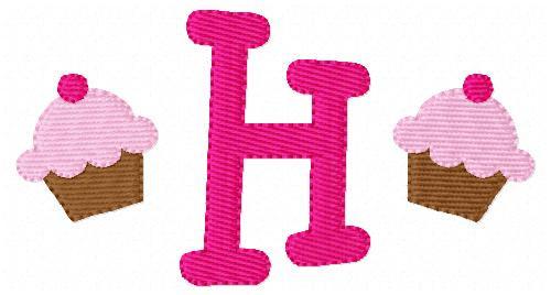 Cupcake Mini Monogram Set