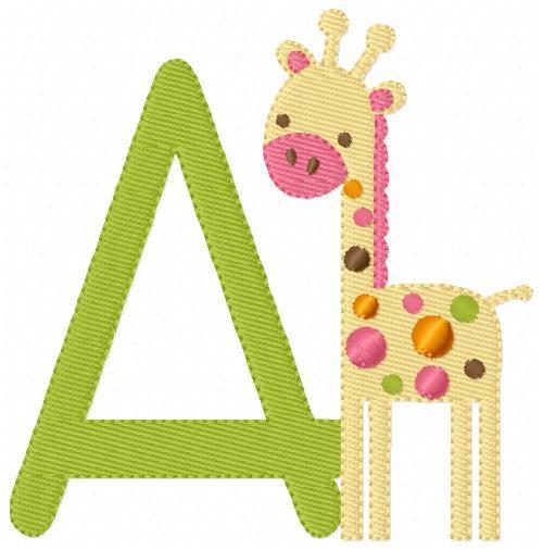 Mod Baby Giraffe Monogram Set