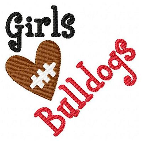 Girls Heart Football Bulldogs
