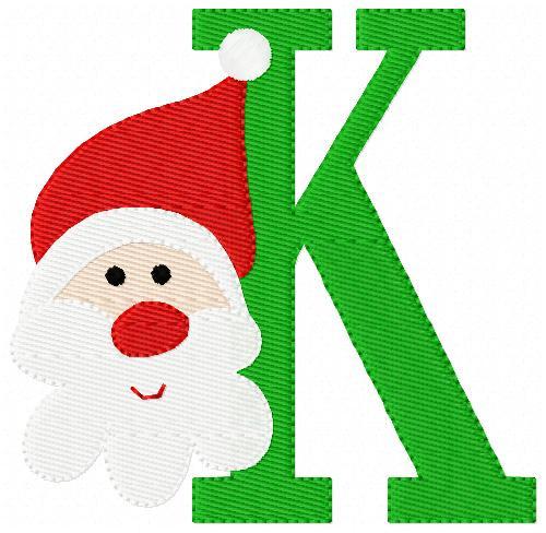 Merry Santa Christmas Monogram Set