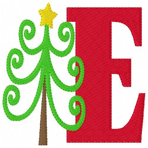 Whimsical Christmas Tree Monogram Set