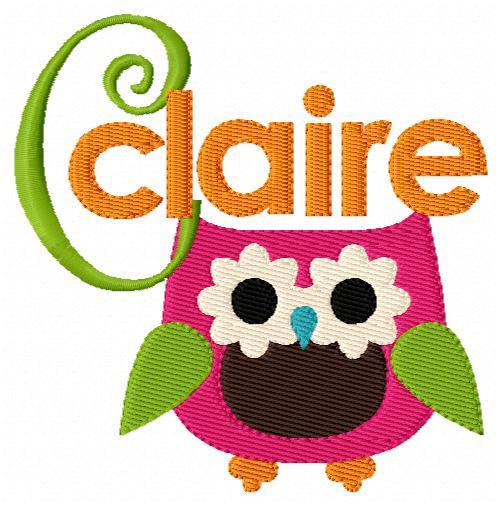 Sweet Owlie Monogram Set