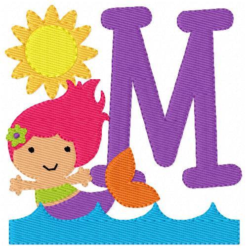 Mermaid Cutie Monogram Set