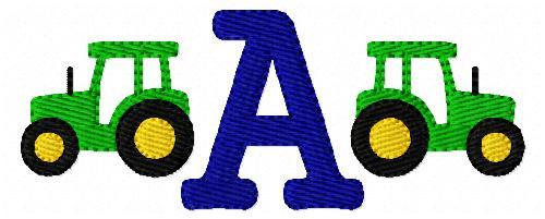 Tractor Mini Monogram Set