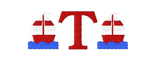Sailboat Mini Monogram Set