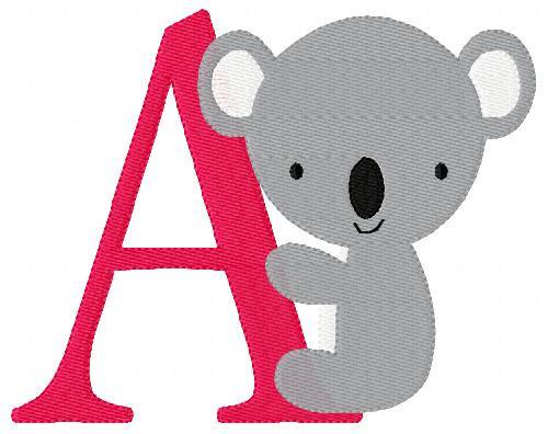 Koala 5x7 Monogram Set