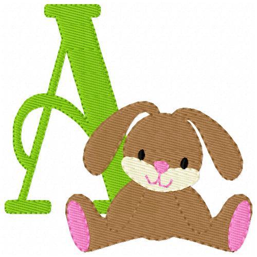 Floppy Bunny Monogram Set