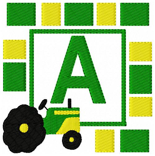 Love My Tractor Monogram Set