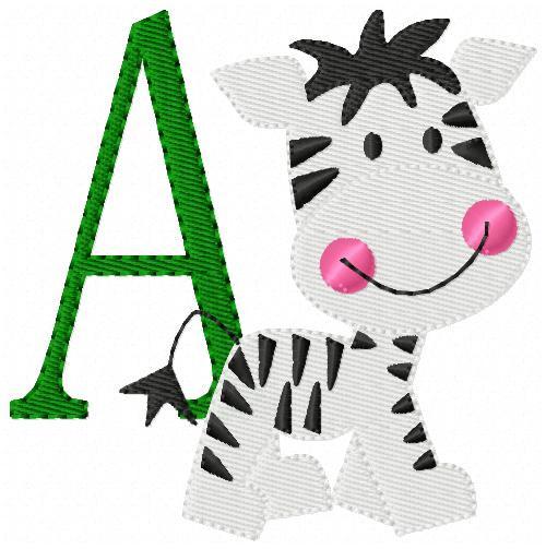 Baby Zebra Monogram Set